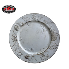 Pine Nuts Antique Plastic Charger Plate