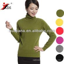 basic design woman's cashmere turtleneck sweater