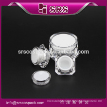 SRS free sample cosmetic cream jar, 15g 30g 50g acrylic cosmetic transparent plastic jar