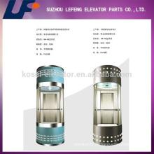 Ascensores panorámicos de pasajeros / elevadores residenciales de vidrio