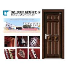Puerta de acero interior de madera (LTG-104)