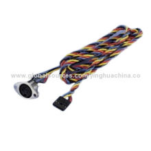 DIN Jack Twisted Wire Harness, RoHS Directive-compliantNew