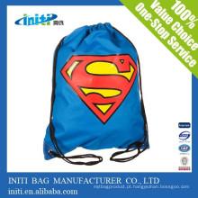 Eco-friendly promocionais coloridos Drawstring sacos de juta com preço de fábrica
