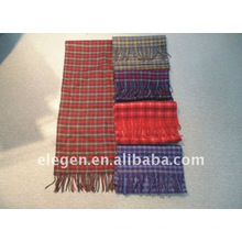 Wool yarn-dyed scarf