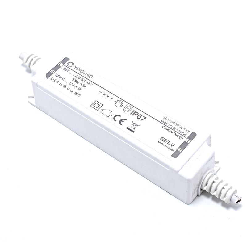 IP67 Plastic Waterproof 40W 700mA LED Power Supply