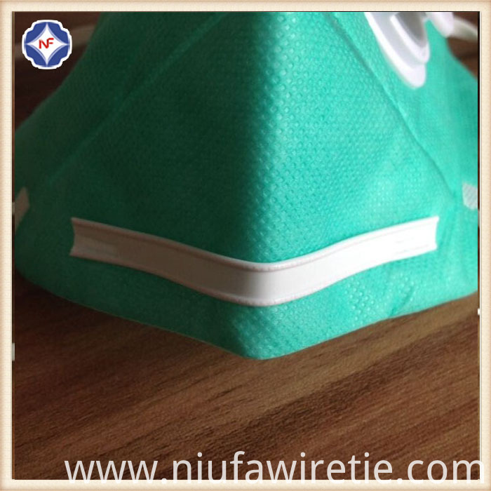 White Plastic Double Core Nose Clip For Masks China Manufacturer