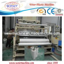 PE / PVC / LLDPE Extrudeuse de film coulée / extensible / enroulée