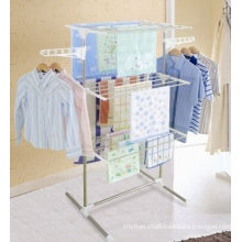 3 Tier Foldable Clothes Rack Dryer Hanger Ng-300w1 With Wheel