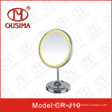 Round Modern Style Table Makeup Mirror with LED Light