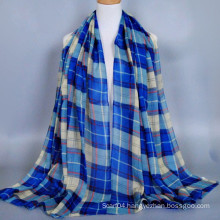 Goods on stock classic plaid cotton voile model hijab