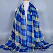 Marchandises en stock classique à carreaux coton voile modèle hijab