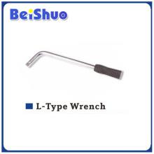 Хромированный гаечный ключ L-типа для автомобильного колеса