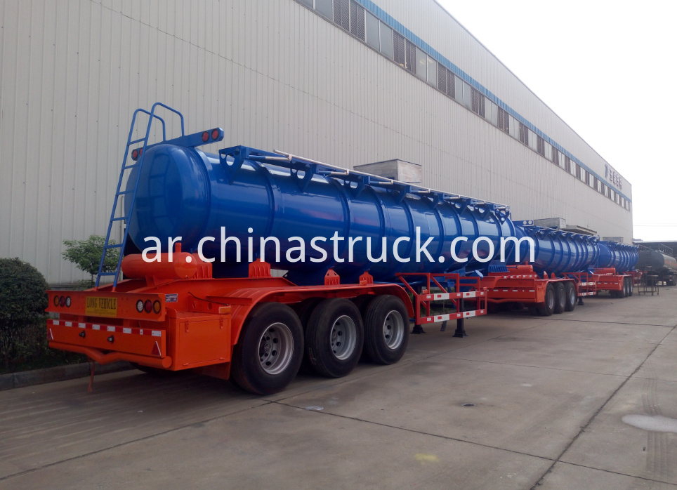3 axle V shape sulfuric acid tanker for Zambia