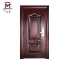 Puerta competitiva china del acero de la entrada de puerta de los hogares del precio de fábrica