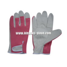 Pig Grain Leather Mechanic Gardening Work Glove-7310