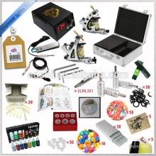 Kit de tatouage à 2 pistolets, kit de machine à tatouage rotatif de démarrage, kit de tatouage cosmétique le moins cher
