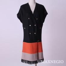 Short Sleeve Ladies Women Fur Jacket (1-45666)