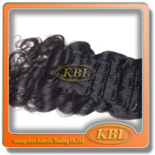 Full cuticle human remy hair clip in extensions double drawn good quality no shedding