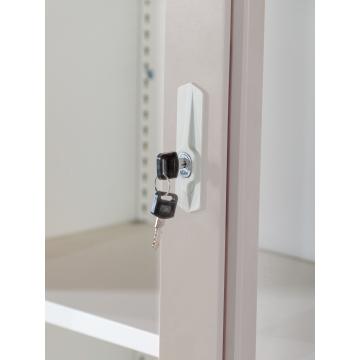 Büroschränke aus Stahl mit Schiebetüren aus Acrylglas