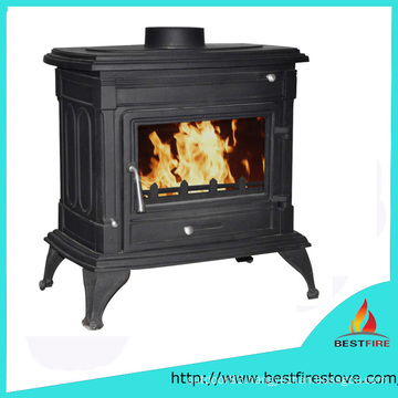 Freestanding Closed Solid Fuel Heating Cast Iron Burner