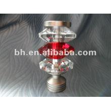 cheap glass curtain rod finials in antique brass, curtain crystal ball finials