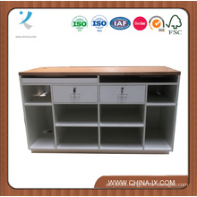 Cashier Desk with Two Lockable Drawer and Storages