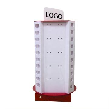Estante de exhibición de acrílico del cargador del teléfono celular del contador