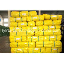 Yellow PE Tarpaulin Cover, Finished Tarpaulin with Gromment. Laminated PE Tarp