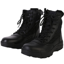 Good Quality Black Leather Police Tactical Boots Military Boots (2004)
