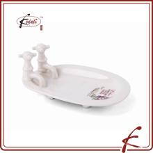 Кран формы керамической ванной мыльница с деколь украсить
