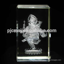 3D Laser Engraving Crystal Ganesh For Wedding Take Away Souvenirs