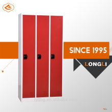 CKD construction powder coating colour 3 door steel wardrobe