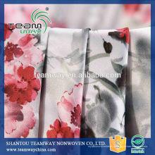 Neues Produkt gedruckt 100% Polyester Fleckstoff für Kleid