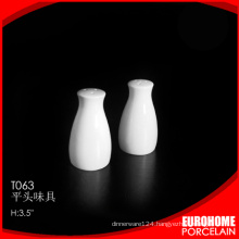 new arrivals nice design white fine ceramic salt pepper shaker