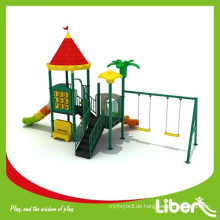 China Kindergarten Kinder Spielplatz Spielzeug Kunststoff Outdoor Spielplatz mit Swing Set
