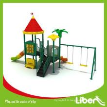 Chine Maternelle Jeux de jouets pour enfants Aire de jeux en plastique en plein air avec balançoire