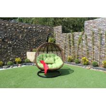 Modern Poly Rattan Double Swing Chair / Hammock para jardim ao ar livre