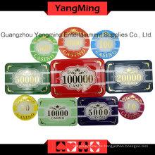 Chip de póquer de alto grado del cuervo fijado (760PCS) Ym-Scma001