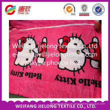 tela de poliester de la acción en microfibra para bedsheet en weifang