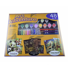 kids children water color number drawing,painting set kits