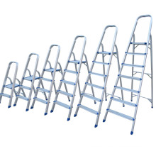 5 step aluminium domestic folding household ladder with shrinked wrapped