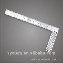 Ruler L-square Carré en acier inoxydable