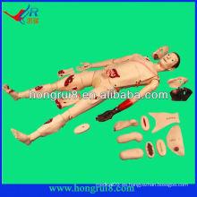 ISO Advanced maniquí de trauma de enfermería médica, accesorios de trauma avanzado