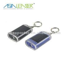 promotion solar key ring solar light keychain