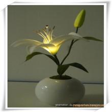 Künstliche Blumen der kleinen Lilie LED mit Keramik-Topf für Förderung