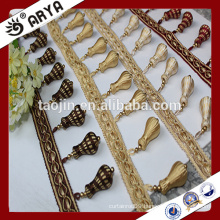 Stock products wooden fringe, curtain fringe, curtain tassel fringe