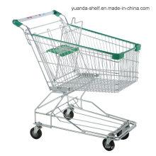 Chariot à provisions en métal de grillage d'épicerie