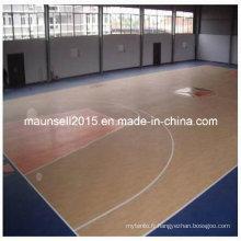 Revêtement de sol en PVC pour terrain de basket