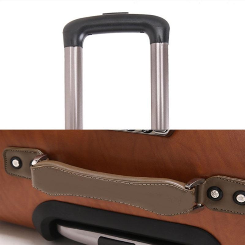 Aluminum Alloy Handle pu luggage
