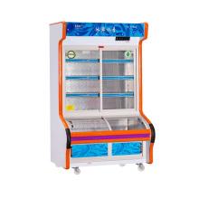Doble temperatura de tres capas de vidrio deslizante porta plato Oder refrigerador
